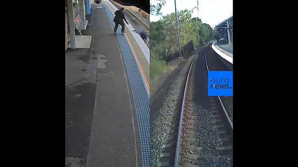 Une collision évitée de justesse entre un homme tombé sur les rails et un train en Australie