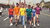 LGBT activists protest in Moscow by forming 'hidden' Pride flag