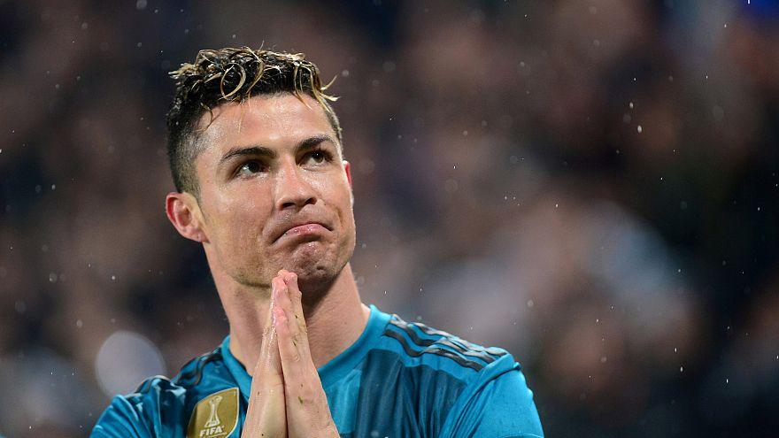 Ronaldo in turin stadium