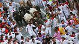 شاهد: ثلاثة مصابين في اليوم الخامس من مهرجان سان فيرمين للركض مع الثيران