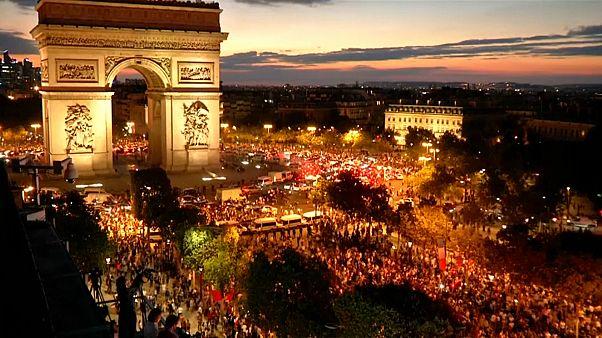 Fransa, paris, yarı final kutlamaları