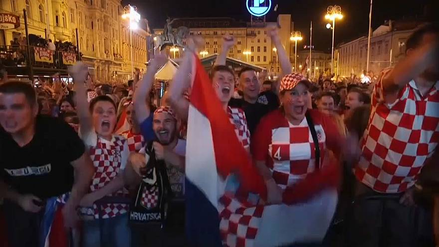 Englands  Leid, Kroatiens Freude nach dem Finaleinzug
