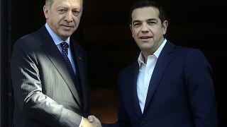 Ο Αλέξης Τσίπρας υποδέχεται τον Ταγίπ Ερντογάν στην Αθήνα 7.12.2017, αρχείο