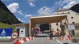 Temporäre Kontrollstation an der österreichischen Grenze (Brenner)