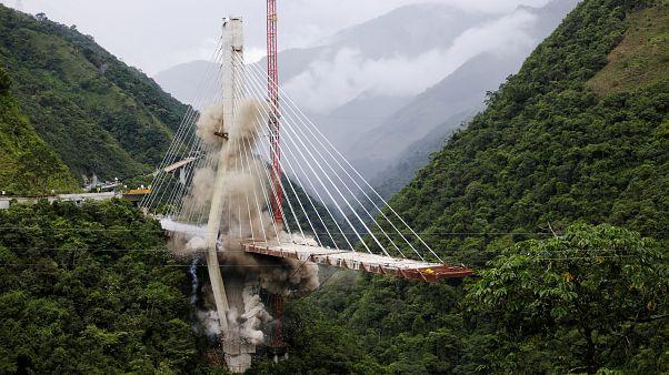 شاهد: تفجير جسر تشيراخارا المعلق في كولومبيا