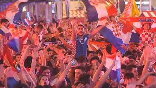 Kroatien feiert den Einzug ins Finale der Fußball-Weltmeisterschaft