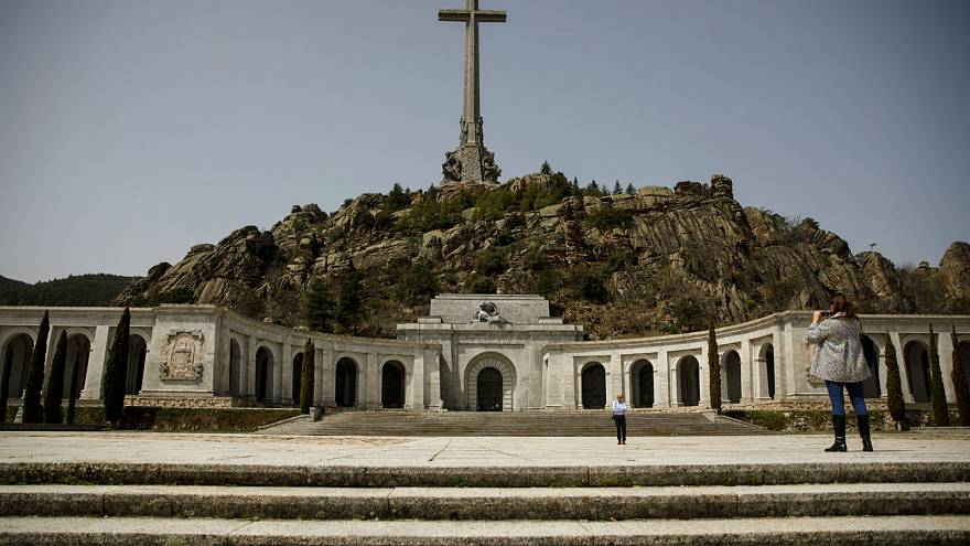 The Valley of the Fallen mausoleum holding the remains of civil war dead