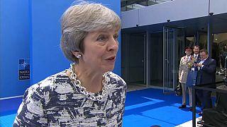 May propone una zona de libre comercio tras el brexit