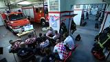 Mondial : la joie des pompiers croates
