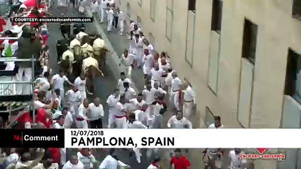 Megint futnak a bikák Pamplonában