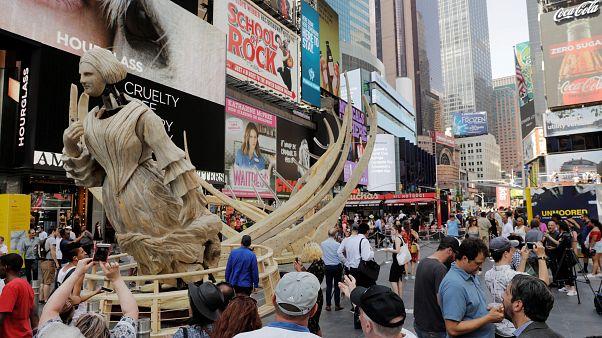 Times Square bajo el agua