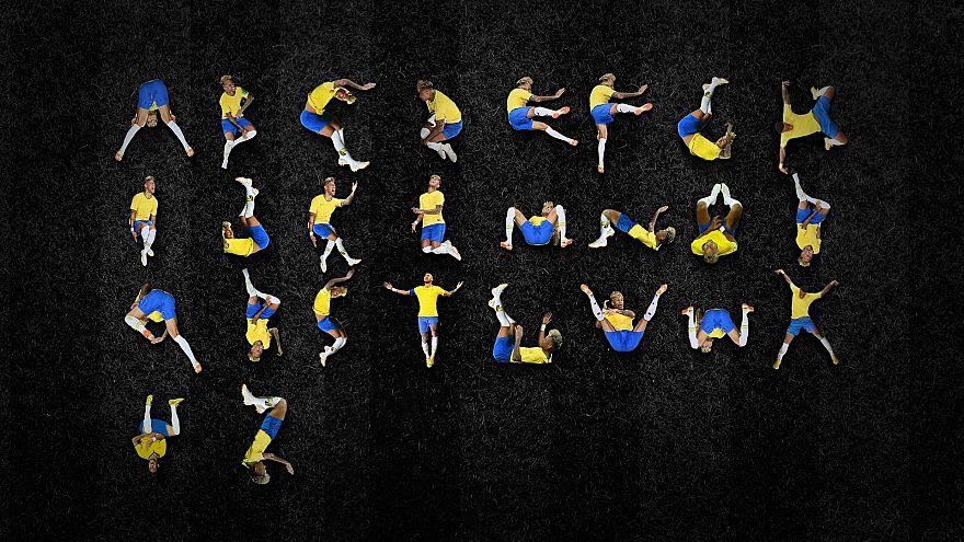 De la A a la Z: Las caídas de Neymar en el Mundial crean un alfabeto