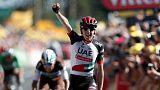 Tour de France: Martin in vetta al Mur de Bretagne