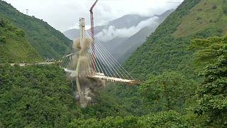 kolombiya, çöken köprü, patlayıcı