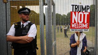 Lluvia de protestas por la visita de Trump al Reino Unido