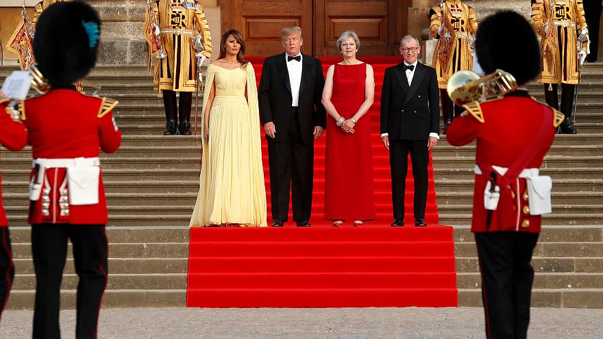 Im Harry-Potter-Schloss: Proteste begleiten Trump in Großbritannien
