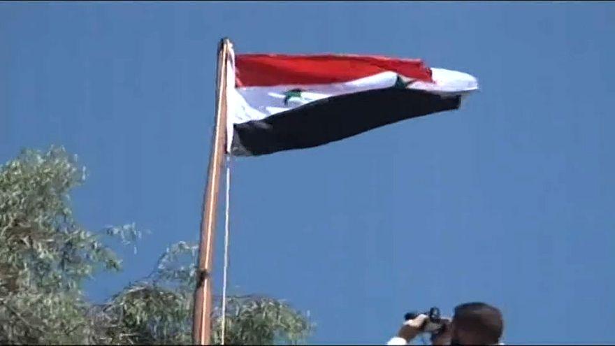 Сирийский флаг над Дераа