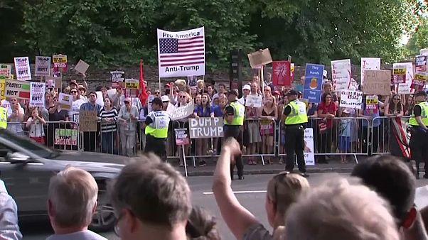 برکسیت و تجارت آزاد؛ ترامپ در بریتانیا به ترزا می هشدار داد