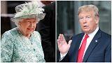 Am Freitagnachmittag trinken Trump und die Queen einen Tee