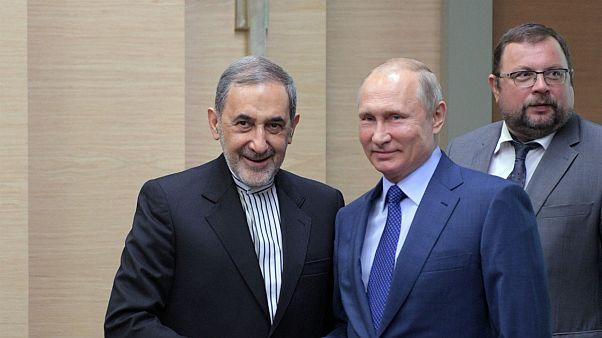 علی اکبرولایتی، مشاور رهبر ایران و ولادیمیر پوتین، رئیس جمهوری روسیه