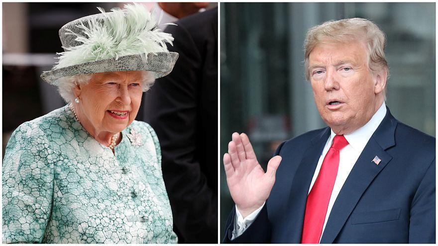 Trump incontra la Regina Elisabetta II. Ecco come NON deve comportarsi