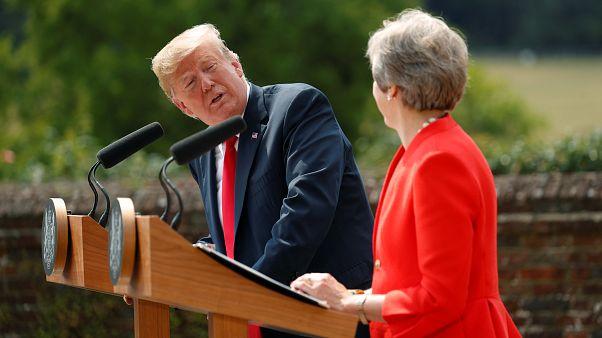 Trump se reconcilia con May tras sus críticas a la gestión del Brexit
