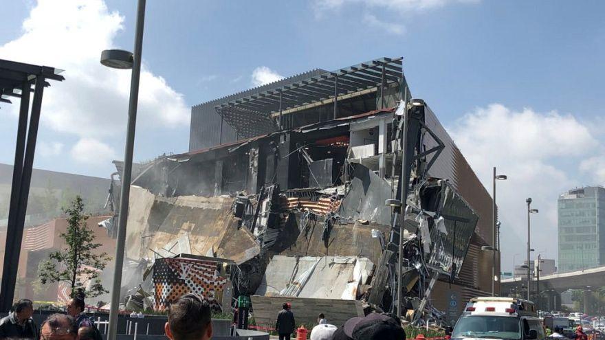 Queda parcial de novo centro comercial na Cidade do México
