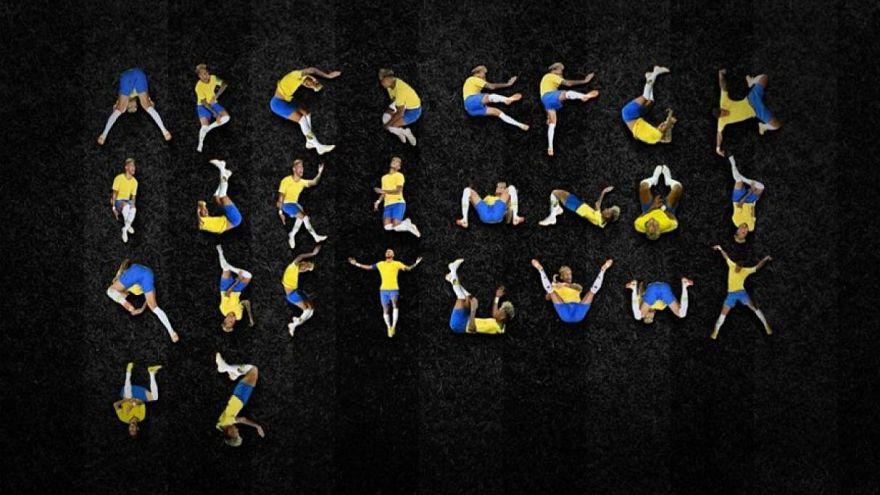 Designer crea intero alfabeto con le foto di Neymar che rotola