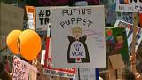 Donald Trump, gösteri, protestocular, pankart