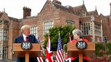 از مواضع ترامپ در نشست مطبوعاتی با ترزا می تا دیدار با ملکه بریتانیا