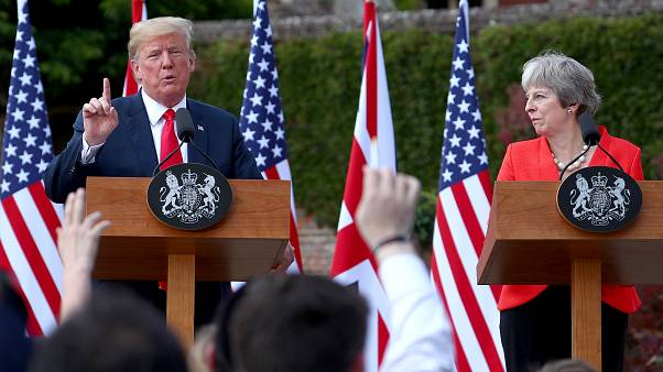 ترامب وماي يؤكدان مواقفهما حول نووي إيران والعلاقات مع روسيا والاتحاد الأوروبي