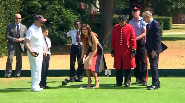 Melania Trump, première dame du bowling