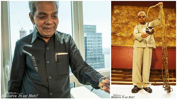 شاهد: صاحب أطول أظافر في العالم يقص أظافره للمرة الأولى بعد 66 سنة