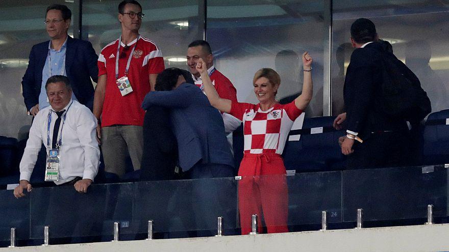 La presidenta de Croacia es la superfan de la selección