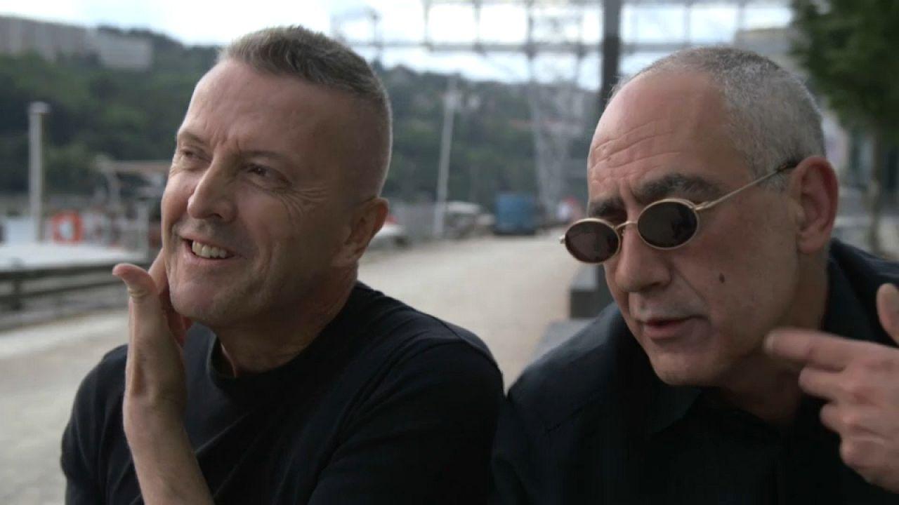 Die beiden Musiker der Band DAF