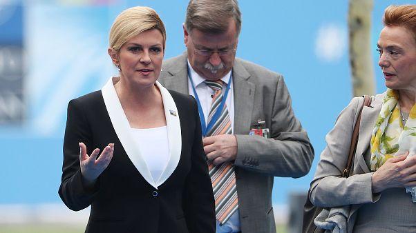 رئيسة كرواتيا كوليندا غرابار كيتاروفيتش.... السفيرة السياسية لمنتخب بلادها