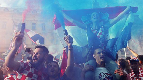 Tolle Stimmung in Zagreb: Stolze Kroaten feiern Platz 2