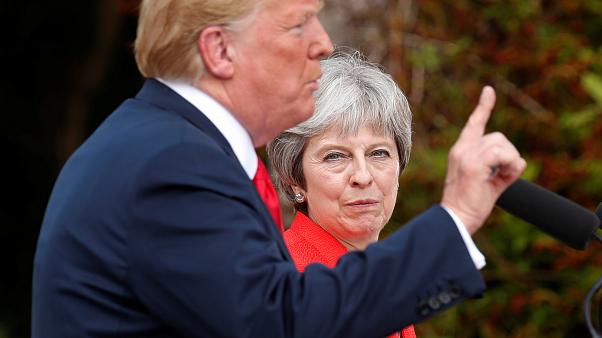 Donald Trump was in the UK for a working visit to meet with Theresa May