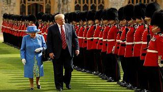 الملكة إليزابث الثانية تستقبل ترامب في قلعة وندسور