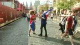 A vb-döntőre várnak a francia és horvát drukkerek Moszkvában