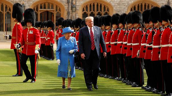 Donald Trump meets the Queen for the first time in Windsor