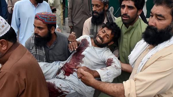 More than 128 people killed in Pakistan suicide bombing