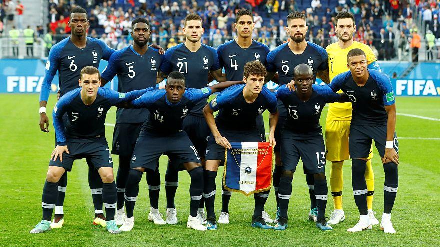 Fransa Milli Takımı'nın yarı final öncesi fotoğrafı