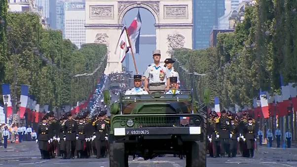 President Macron leads military parade for Bastille Day