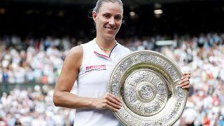 Angelique Kerber wins Wimbledon ladies singles title