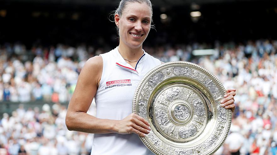 Angelique Kerber wins Wimbledon ladies singles title