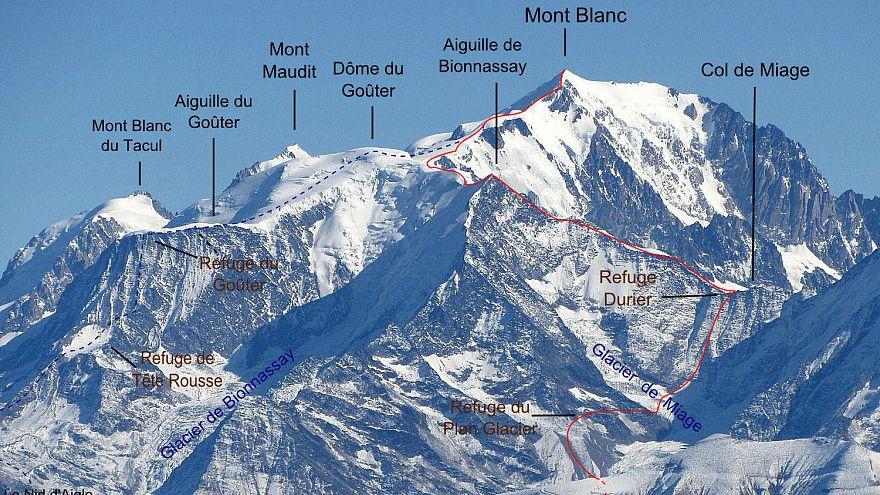 Fransa Mont Blanc Zirvesi'ne tırmanışı geçici olarak yasakladı