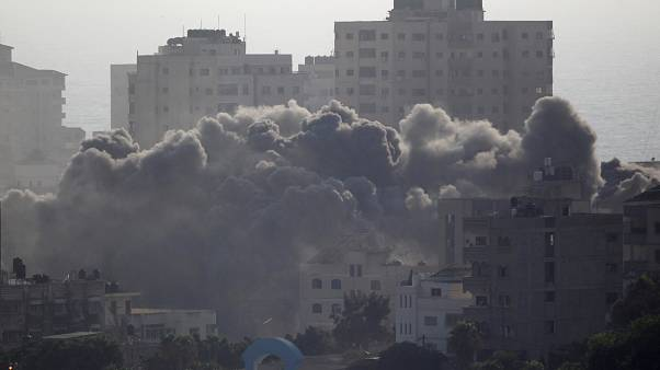 Gaza police investigates blast that killed two people after Israel pounds Hamas targets