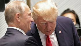 الرئيس الأمريكي دونالد ترامب ونظيره الروسي فلاديمير