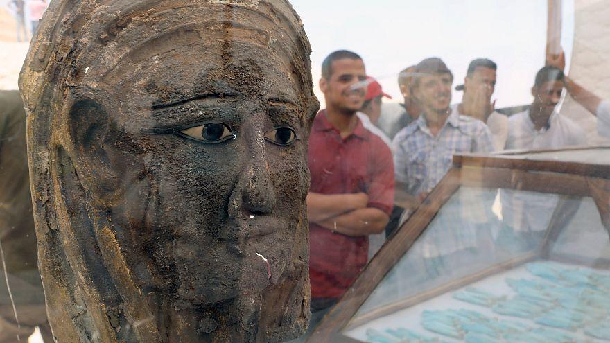 """""""Sensation"""": Forscher finden vergoldete Mumienmaske in Ägypten"""